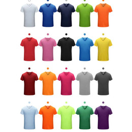 Wholesale Made Men T Shirt - Men's T-Shirts V neck Short sleeves Quick-drying Moisture absorption Perspiration group movement Run Climbing activity custom made clothin