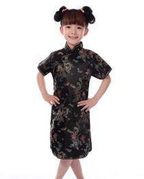 a785fd21e6 Shanghai Story Hot sale Chinese Kid Child Girl Dragon Cheongsam Dress girls  Qipao Faux Silk Qipao Oriental Dress free shipping
