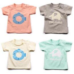 Wholesale Wholesale Cotton Fishing Shirts - Wholesale Summer Baby T-Shirt Boys Girls Cats And Fish Cartoon Clothing T-shirts Short Sleeve Kids Clothing Baby Clothes Free Shipping