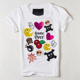 Wholesale Novelty Bells - Wholesale-women t shirt 2016 Summer style women Embroidery Love design camisetas y tops Women Fashion camiseta feminina Black White