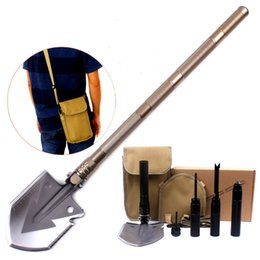 Wholesale Tool Kits For Survival - Outdoor survival shovel kit with Carrying Pouch long handle Multitool Tactical sawtooth shovel for Camping, Hiking, Hunting, DHL free ship