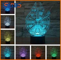 Wholesale Nightlight Stars - Novelty 3D Star Trek Decor Bulbing Night Light Lamp Gadget LED Lighting Star Wars Home Bedside Nightlight for Child Gift