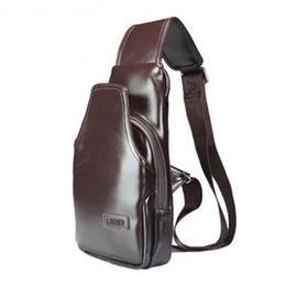 Wholesale Mens Leather Messenger - New Brand Men Messenger Bags Business Man Leather Chest Pack Mens One Shoulder Bag for Men Handbags Brown Black Free Shipping
