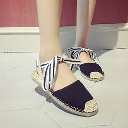 Wholesale Linen Fabric Material - 2017 High quality casual shoes fisherman shoes black blue white ladies driving shoes size 35-39 free shipping cotton and linen material
