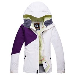 Wholesale Jackets Cheap Costume - Wholesale- Cheap Brand Snow Woman Ski snowboard Colorful Clothing skiing suit Jackets outdoor sports Costume Winter Jacket Warm Costume