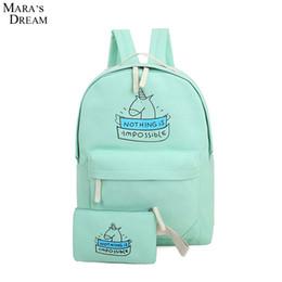 Wholesale Pretty Prints - Wholesale- Mara's Dream 2016 Emoji Backpack Pretty Style Women Canvas Emoji Face Printing Double Zipper School Bag For Teenagers Girls