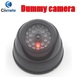 Wholesale Wholesale Dummy Security Cameras - Dome Security Dummy Camera Fake Camera Simulated Infrared IR LED Fake Camera with Blinking Light CCTV Surveillance 5pcs
