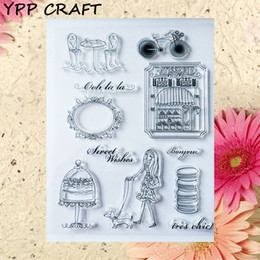 Wholesale Scrapbooking Sheets - Wholesale- YPP CRAFT Sweet Wishes Transparent Clear Silicone Stamp Seal for DIY scrapbooking photo album Decorative clear stamp sheets