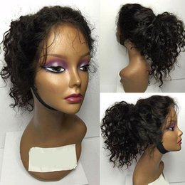 Wholesale Brazilian Virgin Wig Deep Curl - Cheap Brazilian Deep Curl Remy Virgin Human Hair Lace Front Wigs for Black Women Factory Outlet Full Lace Natural Hair