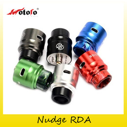 Wholesale Mod Bags - Authentic Wotofo Nudge RDA Tank With Bag of Come Wire Coils 24mm Diameter Atomizers Fit Original Nudge Squonk Box Mod Kits 100% Genuine