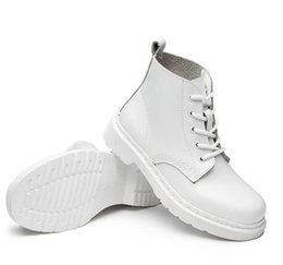 Wholesale Motorcycle Shoes For Men - Women's Autumn Shoes Brand Martin Boots Women Men White Boots High Quality Work Boot Flat Heel Ankle Boots for Couples