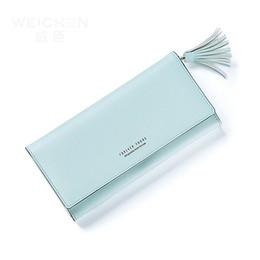 Wholesale Evening Clutch Bag Large - Women Long Wallet Korean Fashion Tassel Card Large Capacity Purse Female Clutch Lady Fashion Evening Bag Clutch