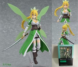 Wholesale Sword Art Online Action Figures - Anime Sword Art Online Figma 314 LEAFA Kirigaya Suguha PVC Action Figure Collection Model Kids Toys Doll 14cm SWAF004