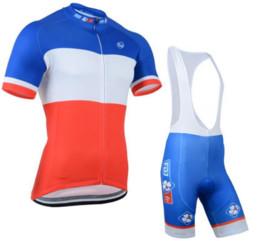 Wholesale Mens Pink Bike Bibs - 2017 Cycling Jersey Pro team FDJ Short Sleeve Summer Mens Cycling Clothing+ Cycling Bib Shorts Set Maillot Bike Clothes sets