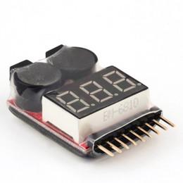 Wholesale lipo buzzer - for 1-8S Lipo Li-ion Fe Battery Voltage 2IN1 Tester Low Voltage Buzzer Alarm Hot Selling