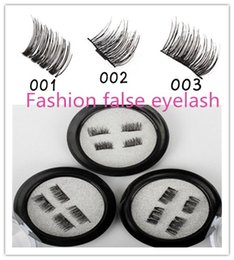 Wholesale Eyelash Glue Stone - 40PCS HOT magnet false eyelash suction stone mascara magnetic magnetic buckle without glue three-dimensional multi-layer natural thick