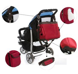 Wholesale Strollers European Style - Wholesale-3colors Hot sell Great value European Style fashion diaper bag big nappy bags for mommy multifunctional maternity stroller bag