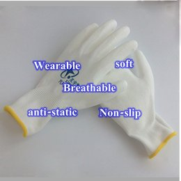 Wholesale Gloves Computer - Hot sale 10pcs 5pairs Anti Static Gloves ESD Safe Gloves Antistatic Non-slip Industrial Working PC Computer Gloves