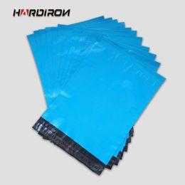 Wholesale Plastic Bags Iron - Wholesale- HARD IRON Premium Quality Blue Plastic Mailers Custom Size Bags Blue Poly Posting Courier Envelope Pouches
