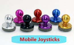 Ipad arcade joystick online-2017 Más caliente Universal Mobile Joystick-IT mini Mobile fling joystick Arcade Game Stick Controller para iPad Android Tablets PC DHL gratis