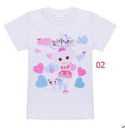 Wholesale Lalaloopsy Cartoon - Free Shipping Lalaloopsy cartoon Le Le Angel girl cotton T-shirt summer girl baby t-shirt children's clothing a wholesale