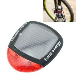 Wholesale Solar Led Flashing Warning Lights - 3 Modes Solar Power 2 LED Porable Light Bike Rear Flashing Tail Light Emergency Alarm Lamps Warning Light BLL_603