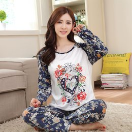 Wholesale Pyjama Coral Fleece - Wholesale- New Spring&Autumn womem pyjamas Cute Cartoon Milk Silk female pajama sets sleepwear girl coral fleece pajamas free shipping