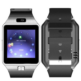 Wholesale Mp3 Trackers - DHL DZ09 smartwatch for Apple android phone smart watch with camera Anti-lost support SIM TF card MP3 pk GT08 A1 U8