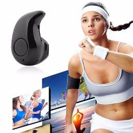 Wholesale Ipad Mini Small - Ultra-small Bluetooth Wireless Headset with Microphone S530 Stereo Headphones for iPad 2 mini 2 Samsung S4 S5 S6 S7 Edge Sony HTC Huawei