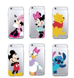 Wholesale Character Phone Cases - Funny Cartoon Character Mickey Mouse Donald Duck Daisy Soft Phone Case foriPhone 7 7Plus 6 6S 6Plus 5 5S SE 5C 4 SAMSUNG