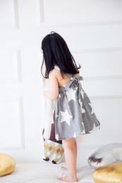 Wholesale Dress Horizontal Stripes - Girl dress, middle summer, big child, summer skirt, 2017 spring and summer girls, new pentagram, horizontal stripes