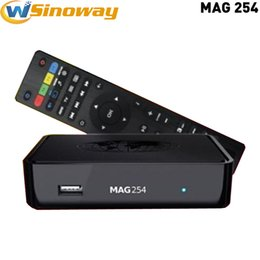 Wholesale Best Tv Free Iptv Box - best tv streaming box MAG254 Linux 2.6.23 Smart TV Box Set Top IPTV Internet Boxes MAG 254 Home STB Google Media Player Free Shipping