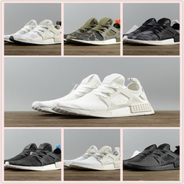 Wholesale Light Up Skull - BEST NMD XR1 III Running Shoes Mastermind Japan Skull Fall Olive green Glitch Black White Blue Camo Pack men womens sports shoes