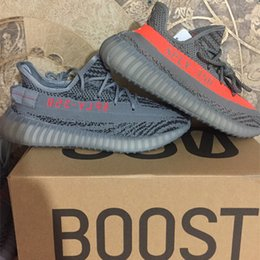 Wholesale Bold Orange - Beluga 2.0 SPLY 350 Dark Grey Bold Orange Boost 350 V2 Beluga 2.0 Cream White Zebra Bred Black White Kanye west Running shoes