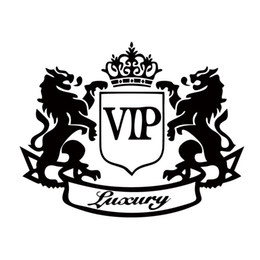 Classiques vinyle à vendre-Hot Sale Autocollant Autocollant Classique Accessoires Modification Car-styling Vinyl Decal Two Lions Vip Car Covers Whole Body