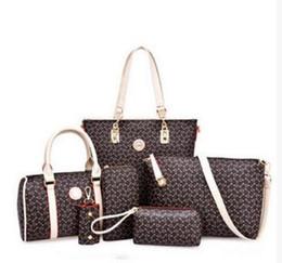 Wholesale Wholesale Khaki Purse - high quality 6pcs lot Women Ms. girl embossed handbags shoulder bags messenger bags purse wallets new fashion handbag shoulder bag Messeng