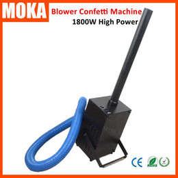 Wholesale Manual Blower - New 1800W Confetti Blower Machine stage effect blower confetti maker DMX512 Manual Control whirlwind paper confetti launcher