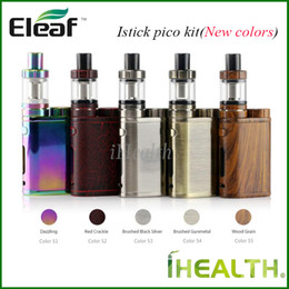 2020 kit di avviamento eleaf Nuovi colori! Eleaf iStick Pico Starter Kit 75w iStick Pico Mod aggiornabile con 4.0 ml Melo III 2.0ml Melo III Mini serbatoio kit di avviamento eleaf economici