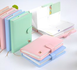 Wholesale Sweet Notebook - Wholesale- New Arrival Weekly Planner Sweet Notebook Creative Student Schedule Diary Book Color Pages School Supplies No Year Limit