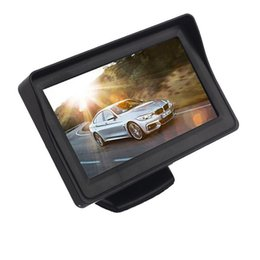 """Wholesale Rearview Lcd - 4.3"""" Car TFT LCD Rearview Back Up Monitor 2 Video Input Color Display Screen for Car Parking Camera 12V"""
