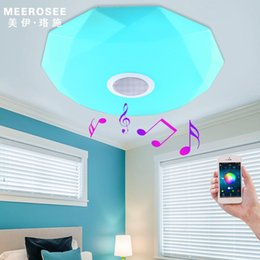 Wholesale Rgb Fixture - New arrival APP Bluetooth Music LED Ceiling Light Smartphone Dimming Discoloration Light Fixture LED Modern Lighting
