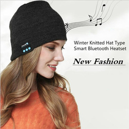 Wholesale Hand Warmers Retail - New Fashion Christmas Gift Bluetooth Music Beanie hat Soft Warm Colorful Hat With Stereo Headset Speaker Wireless Hands-free Cap Retail BOX