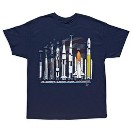 Erkek Kısa Kollu T-shirt Pamuk NASA Roket Tişörtlü Bilim Mühendislik Uzay Programı TAŞ Yetişkin Tee supplier science tee shirts nereden bilim tişörtü tedarikçiler
