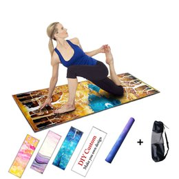 Wholesale Rubber Carpet Pads - Colorful Rubber Fitness mat Yoga Mats Covers Health Fitness Carpet Pilates Blanket Gym Exercise Pad Camping Mat