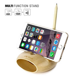 Wholesale Dock Amplifier - SeenDa 3 in 1 Wood phone Stand Pen holder with Sound Amplifier,Wooden phone and Pen holder charging dock for iphone7 samsung