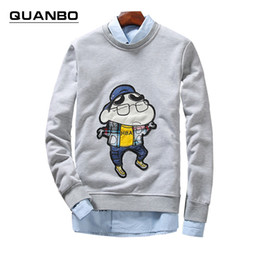 Wholesale Wholesale Anime Fashion Clothes - Wholesale- Big size 5xl 2016 New Spring Autumn Harajuku Thin Crewneck Sweatshirts Teen anime pullover Men Women Lovers Clothes Tracksuit