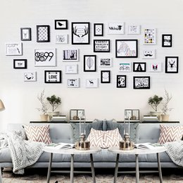Wholesale Modern Area - Living Room Photo Wall Frame Large Area Nordic Modern Simple Style Picture Wall Decoration Rectangle 31pcs   set