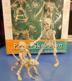 Wholesale Skull Phone Accessories - Pose Skeleton Cute Figma Skull Phone Accessories Figure Model Toy Collection