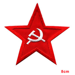 clothes repair Promo Codes - doctor ambulance box Soviet red star badge insignia USSR hammer & sickle repair clothes applique iron-on patch