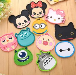 Wholesale Funny Mats - Funny Design Lovely PVC Cartoon coffee cups Mats & Pads heat-resistant Dining table placemats coaster 30pcs lot free shipping